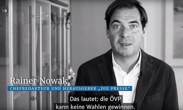 Rainer Nowak im Video-Kurzkommentar zum Thema ÖVP /