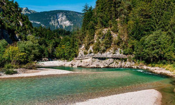 (c) SalzburgerLand Tourismus/Achim Meurer Saalach. Knapp über hundert Kilometer lang und über Landesgrenzen hinweg.