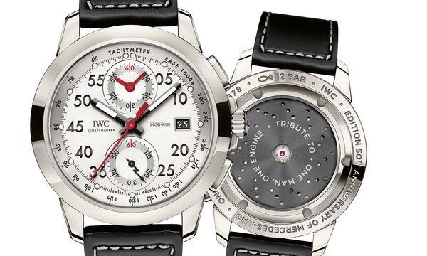 """(c) Beigestellt IWC Schaffhausen """"Ingenieur Chronograph Sport Edition 50th Anniversary of Mercedes-AMG""""  (Ref. IW380902)"""