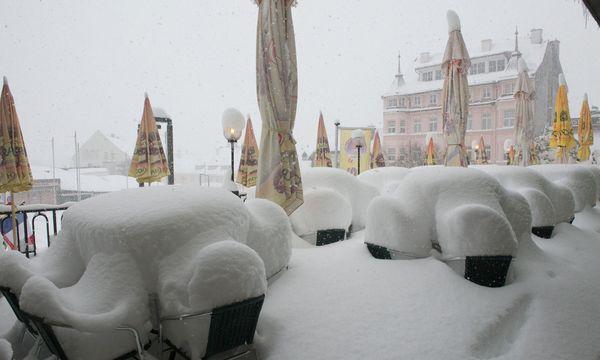 92 cm Neuschnee in Mariazell. / Bild: APA/FOTO KUSS