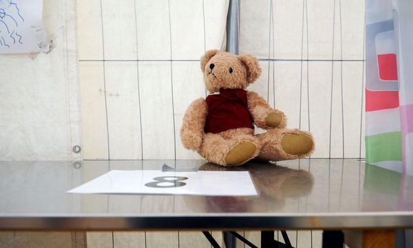 Symbolbild: Teddybär eines Kindes, aufgenommen am Grenzübergang Spielfeld / Bild: (c) Die Presse (Clemens Fabry)