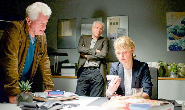 Ivo Batic (Miroslav Nemec), Franz Leitmayr (Udo Wachveitl) und Christine (Lisa Wagner). / Bild: ORF