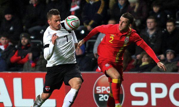 Fußball: Österreich verliert Testspiel gegen Wales / Bild: EPA