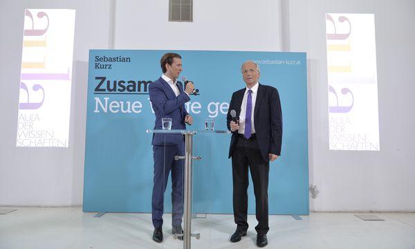 Rudolf Taschner (r.) ist der nächste Quereinsteiger. / Bild: (c) APA/HERBERT NEUBAUER