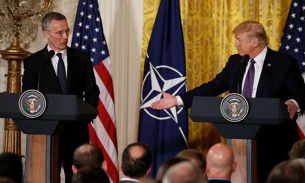 Trump und Nato-Generalsekretär Stoltenberg in Washington. / Bild: REUTERS