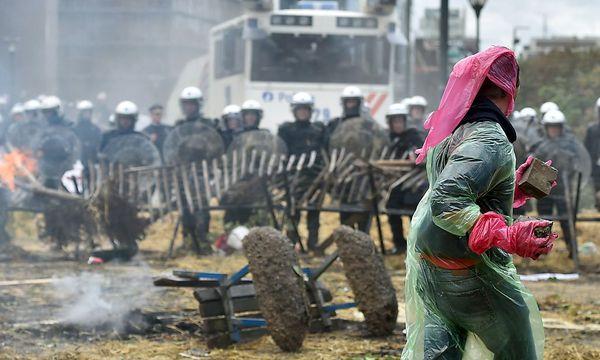 Heftige Proteste in Brüssel / Bild: REUTERS