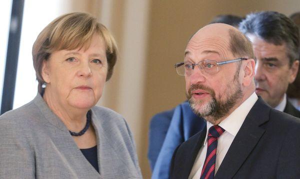 Merkel, Schulz / Bild: (c) APA/dpa/Kay Nietfeld (Kay Nietfeld)