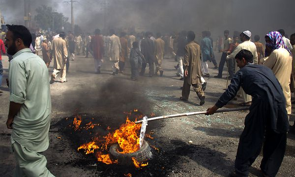 Proteste gegen Mohammed-Video in Pakistan / Bild: AP