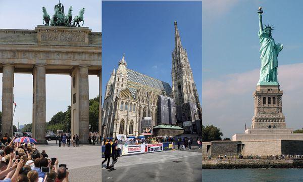 Brandenburger Tor, Stephansdom, Freiheitsstatue / Bild: (c) Bildagentur Waldhaeusl (Bildagentur Waldh�usl)