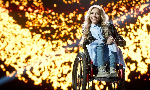 """Flame is burning"" lautet der Titel des Liedes, mit dem die Russin Julia Samoilowa im Mai beim Song Contest in Kiew antreten möchte. / Bild: (c) APA/AFP/Channel One/TV/press service/HO (HO)"