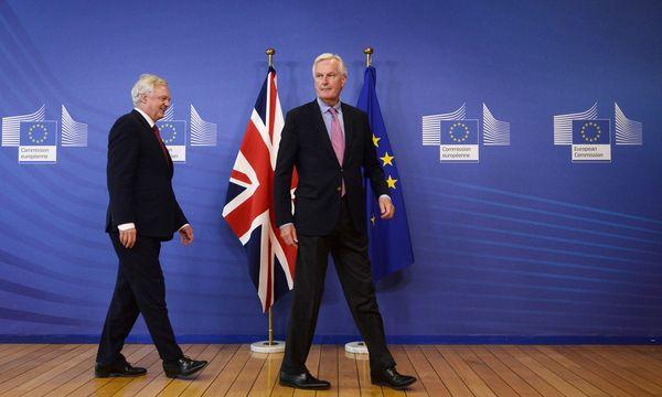 Sie sind die Chefs der Verhandlungsteams: der britische Brexit-Minister David Davis (li.) und EU-Kommissar Michel Barnier. / Bild: (c) APA/AFP/JOHN THYS