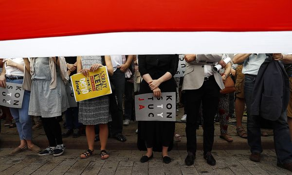 Proteste gegen die Justizreform. / Bild: REUTERS/Kacper Pempel