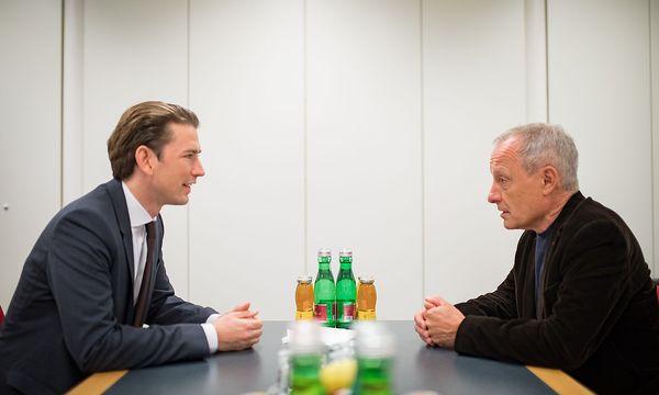 ÖVP-Chef Sebastian Kurz besprach mit Liste-Pilz-Gründer Peter Pilz auch umweltpolitische Themen. / Bild: APA/NEUE VOLKSPARTEI/JAKOB GLASER