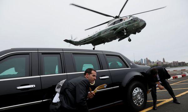 Donald Trump machte auch bei seiner Ankunft in New York viel Wind. / Bild: (c) REUTERS (JONATHAN ERNST)