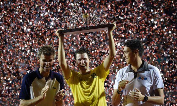 """""""Obrigado"""", rief der siegreiche Dominic Thiem den Tennisfans in Rio zu. / Bild: APA/AFP/J.P.ENGELBRECHT"""