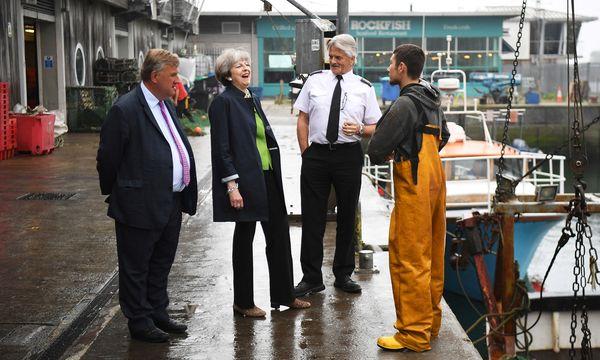 Hölzern, reizbar, roboterhaft: Premierministerin Theresa May hat ein Problem damit, bei Kontakten mit britischen Wählern spontan und authentisch zu wirken. / Bild: (c) REUTERS (POOL New)