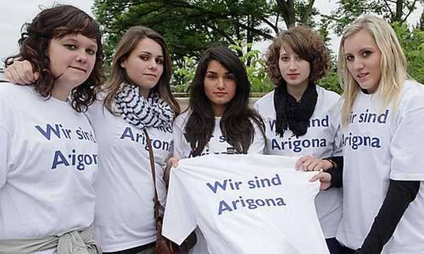 Schüleraktion: Solidarität mit Arigona Zogaj / Bild: (c) APA/rubra (Rubra)