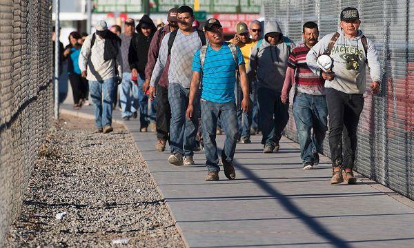 Migranten an der mexikanischen Grenze. / Bild: APA/AFP/JIM WATSON