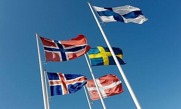 Skandinavische Flaggen /
