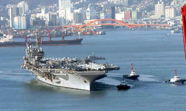 SOUTH KOREA - US CARRIER USS KITTY HAWK / Bild: EPA