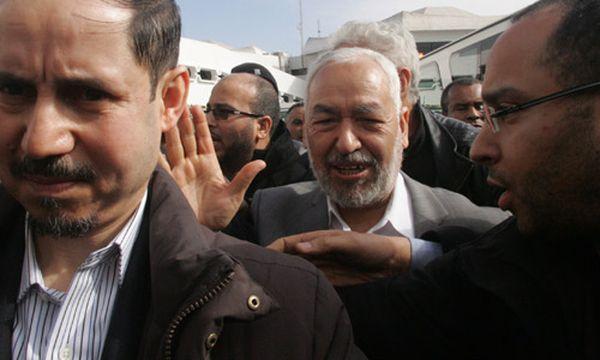 Chef der Islamistenpartei En-Nahda, Rached Ghannouchi i zurück in Tunis / Bild: (c) AP (Stringer)