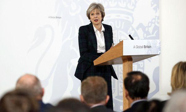 Theresa May erklärt der Welt den Brexit. / Bild: (c) APA/AFP/POOL/KIRSTY WIGGLESWORTH (KIRSTY WIGGLESWORTH)