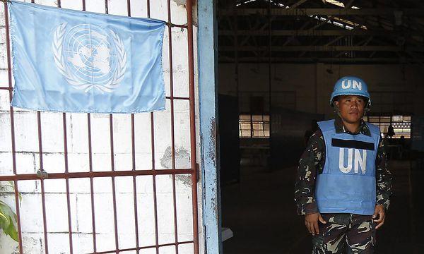 Philippinischer Soldat im UN-Camp auf den Golanhöhen / Bild: EPA