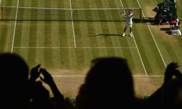 Spielt Roger Federer in Wimbledon, herrscht eine besondere Form der Verehrung. / Bild: (c) AFP