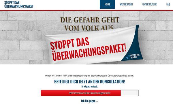 www.überwachungspaket.at / Bild: (c) Screenshot
