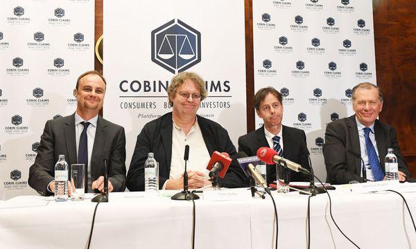 Gründungsmitglieder Oliver Jaindl, Peter Kolba, Manfred Biegler und der Vorsitzende des Investoren-Beirats Wilhelm Rasinger (v.l.n.r.) / Bild: Cobin Claims