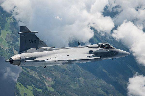 Erstflug der neuen Gripen E vor wenigen Wochen / Bild: SAAB