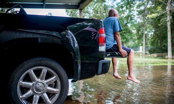 Die Betroffenen in Texas schwanken zwischen Gelassenheit und Fassungslosigkeit. / Bild: (c) APA/AFP/EMILY KASK