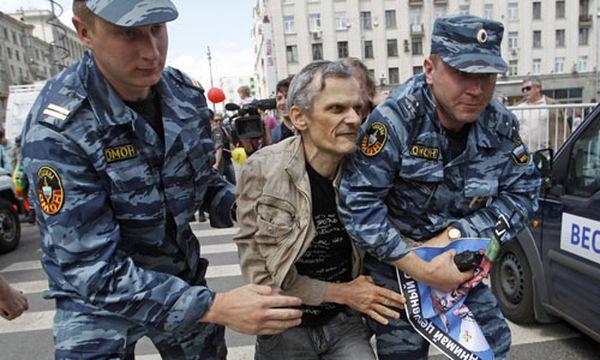 Symbolbild: Polizeieinsatz in Moskau / Bild: (c) AP (Mikhail Metzel)