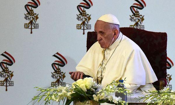 Papst Franziskus.  / Bild: (c) APA/AFP/KHALED DESOUKI (KHALED DESOUKI)