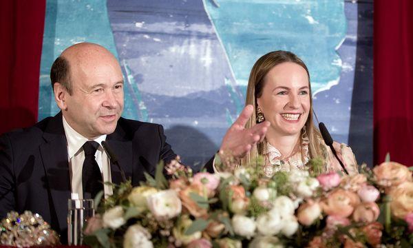 (c) APA/GEORG HOCHMUTH Staatsopern-Direktor Dominique Meyer und Opernball-Organisatorin Maria Großbauer.