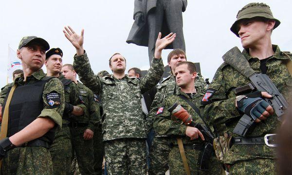 Prorussische Separatisten in Donezk. / Bild: (c) EPA (Photomig)