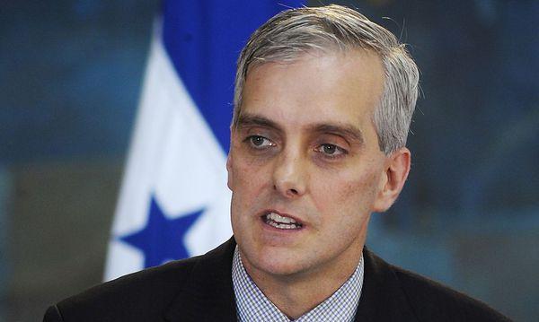 File of U.S. Deputy National Security Advisor McDonough addressing the media in Tegucigalpa / Bild: REUTERS