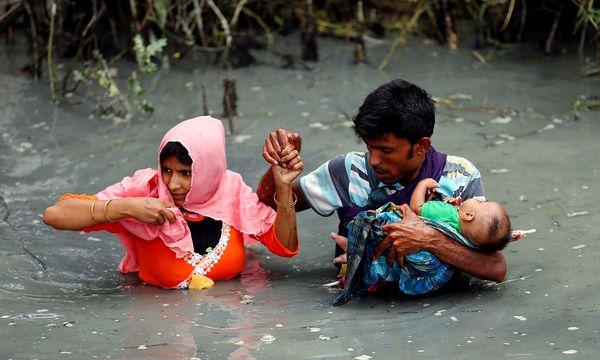 Rohingya-Flüchtlinge an der Grenze zwischen Myanmar und Bangladesch / Bild: (c) REUTERS (Mohammad Ponir Hossain)