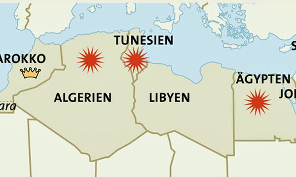 Grafik Brandherd Tunesien / Bild: (c) APA