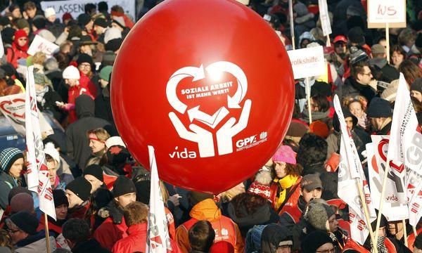 Symbolbild Streik der Gewerkschaft Vida.  / Bild: (c) APA/GEORG HOCHMUTH (GEORG HOCHMUTH)
