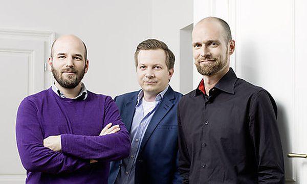 Baningo-Gründer (v.l.n.r.): Michael Niessl, Harald Meinl, Max Nedjelik / Bild: (c) Hasselblad H4D