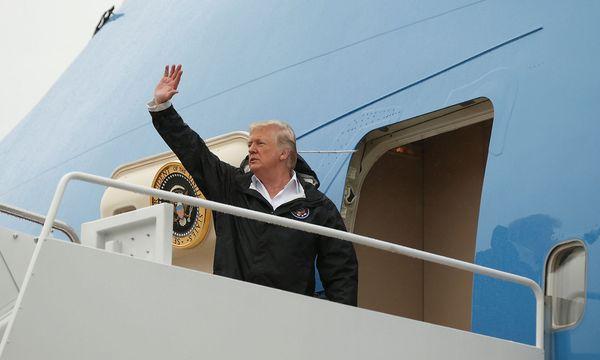 Donald Trump fliegt von Maryland aus erneut in die Flutgebiete im Südosten der USA. / Bild: REUTERS