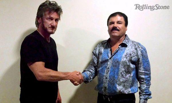 """Sean Penn (links) und Joaquín Guzmán nach dem Interview. / Bild: (c) """"Rolling Stone""""/Reuters"""