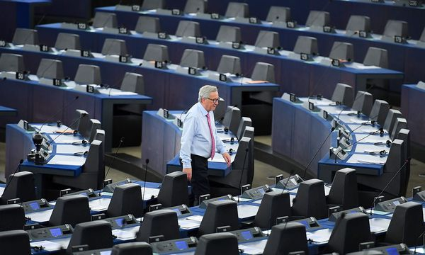 Juncker kündigte an, nicht mehr an EP-Treffen teilzunehmen. / Bild: APA/AFP/PATRICK HERTZOG