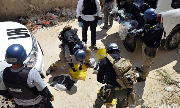 Archivbild: Die UN-Experten bei der Arbeit / Bild: REUTERS