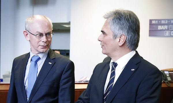 Van Rompuy; Faymann / Bild: APA/BKA/ANDY WENZEL