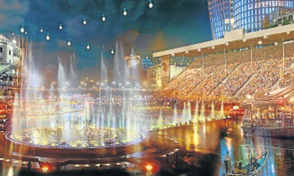 Entwurf 1 – von Sue Architekten: der Songcontest rund um und auf dem Donaukanal. / Bild: (c) Sue Architekten