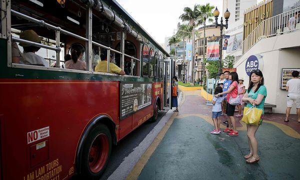 Die Bewohner Guams sind verstört. / Bild: APA/AFP/ROBERT TENORIO