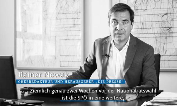 Rainer Nowak im Video-Kurzkommentar zum Thema die SPÖ / Bild: Shervin Sardari