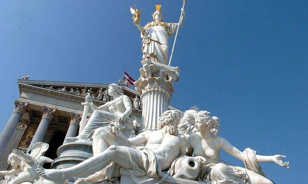 Pallas Athene vor dem Parlament / Bild: (c) Presse